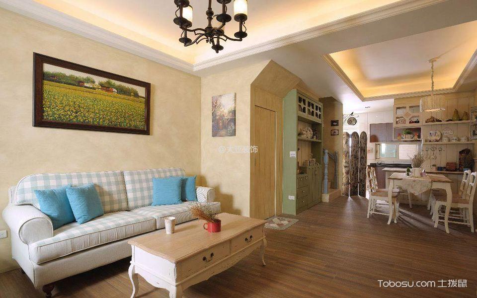 客厅 背景墙_法式乡村风格小别墅装修效果图