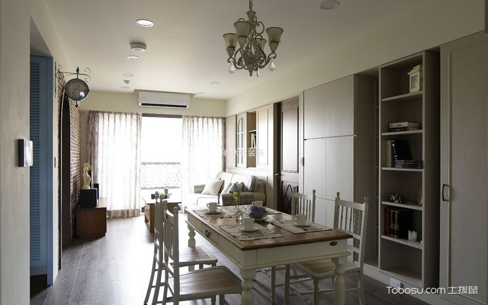 2020法式110平米装修图片 2020法式三居室装修设计图片