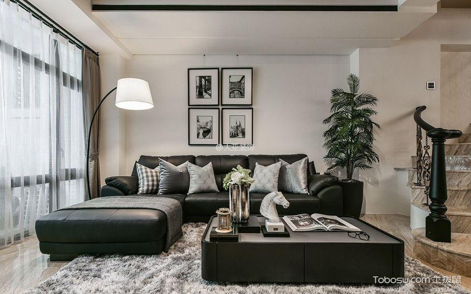 客厅_现代质感风舒适别墅装修效果图