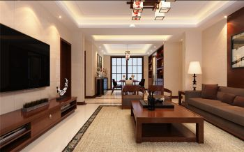 海棠湾四居室中式风格装修效果图