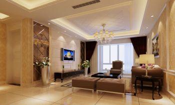 中天左岸三室两厅现代欧式简约风装修效果图