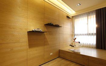 儿童房黄色榻榻米现代简约风格装修设计图片