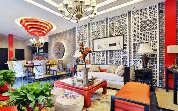 中式混风多彩家居装修效果图