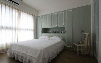 卧室白色窗帘法式风格装饰效果图