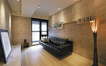 现代简约木质家庭三居装修效果图