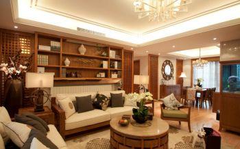 东南亚风格三居室家庭装修案例设计图