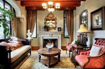 古典风四居室家装样板间案例图片