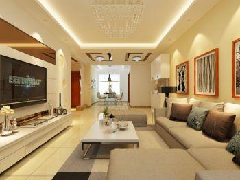 温馨简约风格两室两厅家装效果图