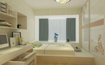 儿童房黄色榻榻米现代简约风格装饰设计图片