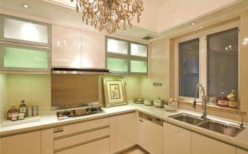 厨房白色吊顶简欧风格装饰设计图片