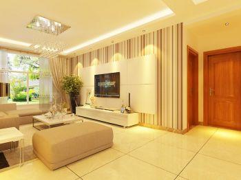 两室两厅家居温馨风简约装修效果图
