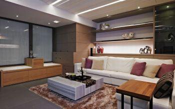 客厅黄色榻榻米现代风格装饰图片