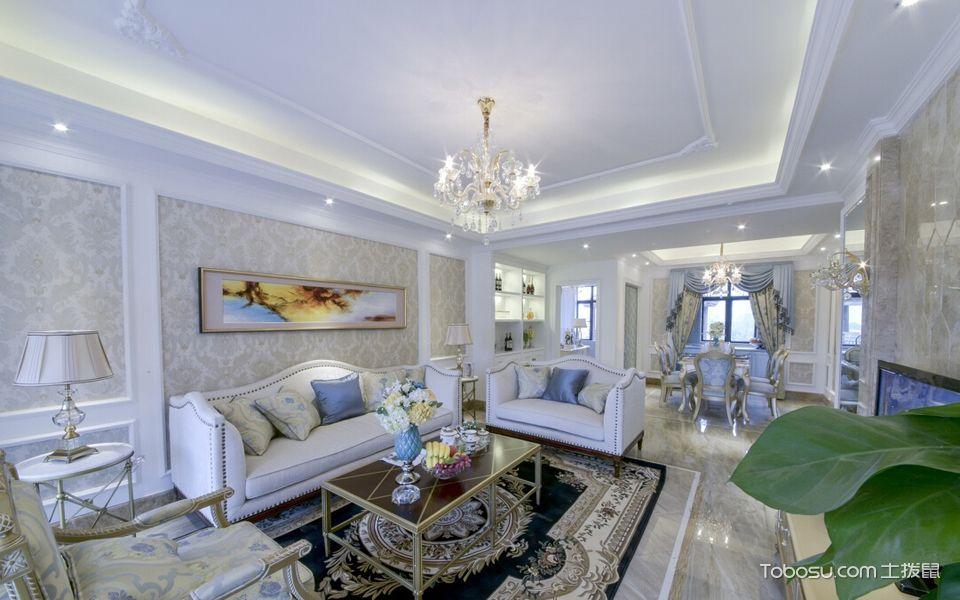 2020法式120平米装修效果图片 2020法式三居室装修设计图片