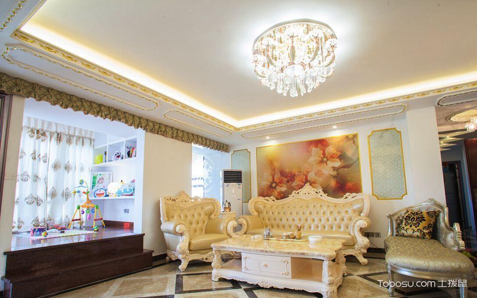 客厅 榻榻米_11万预算120平米三室两厅装修效果图