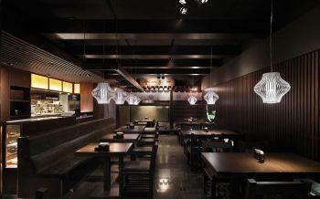 日式料理餐馆大厅走廊装潢图片