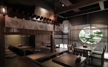 日式料理餐馆榻榻米座装饰效果图