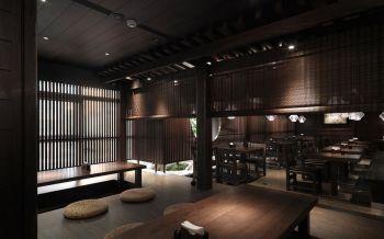 日式料理餐馆榻榻米座内部装饰图片
