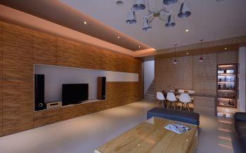 现代风格石木结合别墅装修效果图