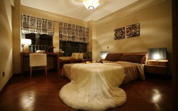 卧室咖啡色地板砖混搭风格装饰效果图