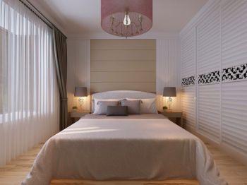 卧室白色推拉门现代风格效果图