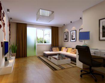 保利拉菲公馆现代简约两居室装修效果图