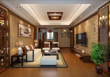 海亮九玺中式雅致两居室装修效果图