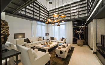 自建房现代中式风格四居室装修效果图