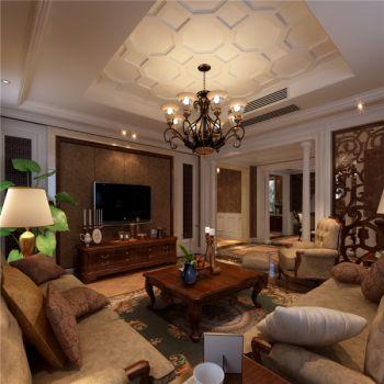 保利拉菲三居室雅致美式风格效果图
