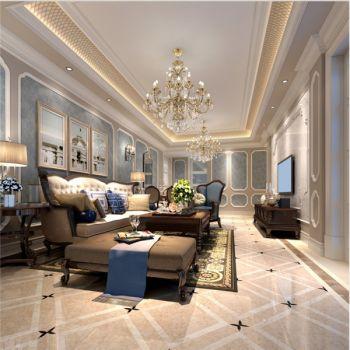 滨湖假日三居室豪华法式风格效果图