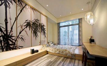 卧室黄色榻榻米简约风格装饰效果图