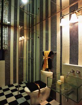 卫生间隔断混搭风格装饰设计图片