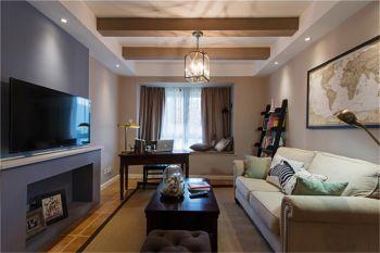 2019美式90平米效果图 2019美式三居室装修设计图片