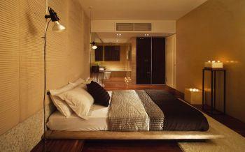 卧室黄色榻榻米日式风格效果图