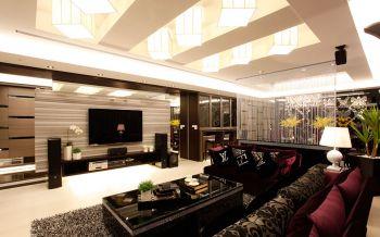 客厅白色隔断新古典风格装修图片