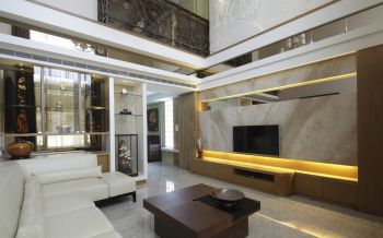 和风雅颂现代中式风格别墅装修效果图
