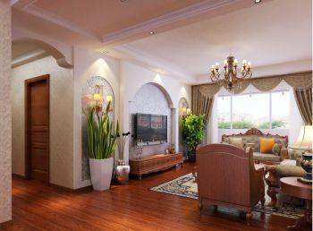 广视花园新古典风格三居室装修效果图