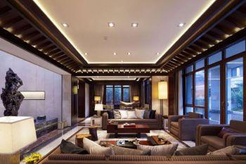 玺岳中式四居室装修案例图