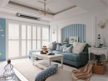 北环阳光清新地中海风格三居室装修案例