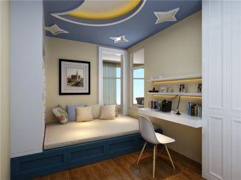 书房米色榻榻米地中海风格装修图片