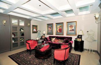 四居室美式简约风格设计案例图