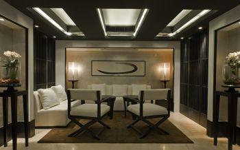2019现代中式120平米装修效果图片 2019现代中式四居室装修图