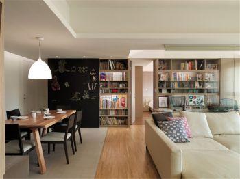 和谐花园二居室现代简约装修案例图