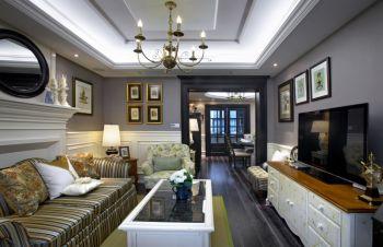 欧式风格彩色三居室装修案例图