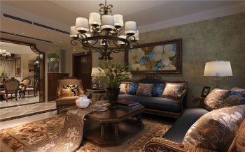 南国花园四居室古典美式风格效果图