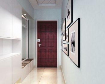 玄关白色照片墙现代风格装饰效果图
