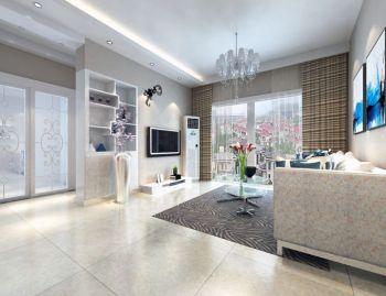 丽阳雅居100平米现代风格套房白色设计装修图