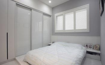 卧室白色榻榻米简约风格装潢效果图