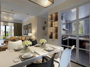 2018现代简约90平米效果图 2018现代简约三居室装修设计图片