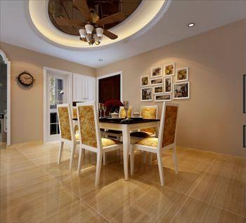 餐厅黄色照片墙现代欧式风格效果图