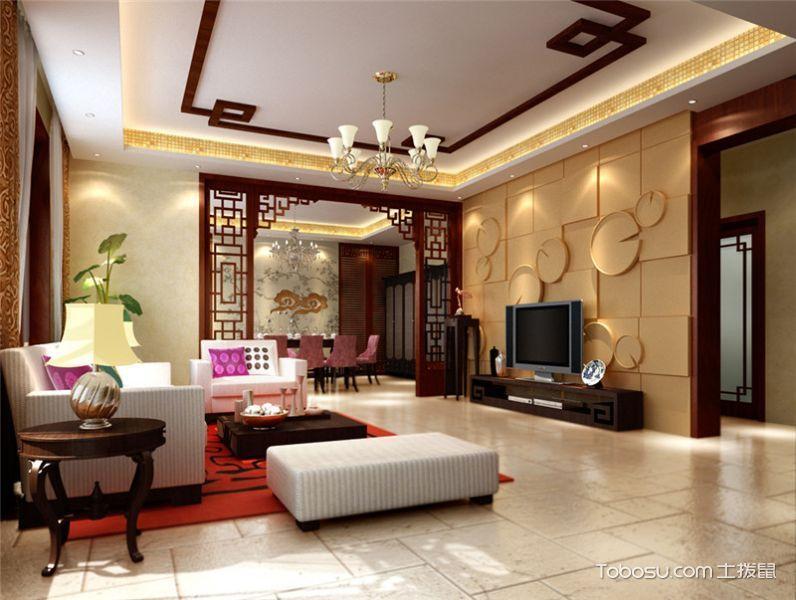 内森庄园中式风格三居室家庭室内效果图